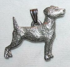 Jack Russell Terrier Dog Harris Fine Pewter Pendant USA Made
