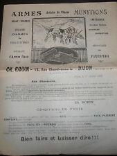 catalogue dépliant armes - chasse - munition - Dijon 21  ( ref 19 )
