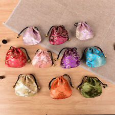 10X Chinese Handmade Mix Colors Silk Bag Coin Purse Gift Jewelry Bags Pouches GN