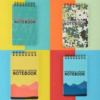 Portable Waterproof Spiral Notebook All Weather Rain Pocket Notepad Outdoor L6I3