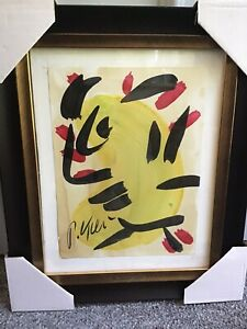 Peter Keil - Signed & Framed Original Painting - Face 8 - Listed Art