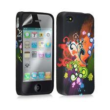 Housse étui coque en gel pour Apple Iphone 4 / 4S avec motifs + film protecteur