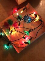 Vintage Christmas Jewel Lite 20 Lite Royal Crown Set  set of 4 with extra pieces
