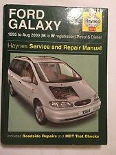 FORD GALAXY MPV HAYNES SERVICE & REPAIR MANUAL PETROL TURBODIESEL 1995-2000 M-W