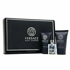 Versace Pour Homme 5 ml EDT spray mens cologne+ 25ml shampoo + a/sh Mini SET NIB