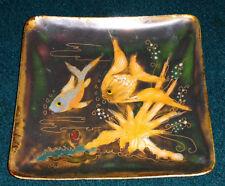 Kupfer Emaille Schale Fische signiert