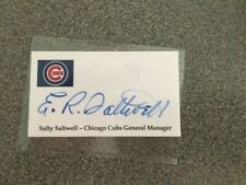 E.R. Salty Saltwell Signed Business Card Sized Card Chicago Cubs Auto