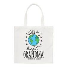 World's Best Grandma Small Tote Bag - Funny Gift Grandmother Shoulder