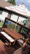RARE POTTERY BARN KIDS CHESAPEAKE TABLE CHAIRS BENCHES CUSHIONS UMBRELLA LOT