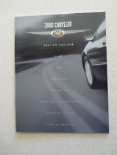 2000 Chrysler 300M & Concorde & LHS & Sebring advertising booklet