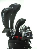 AGXGOLF MENS LEFT HAND COMPLETE GOLF SET wDRIVER+3 WOOD+HYBRIDS+6-PW+BAG+PUTTER