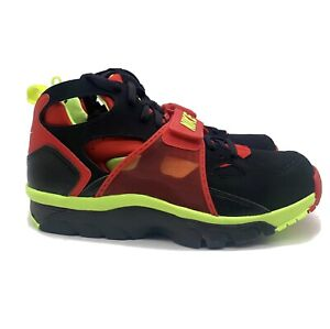 Nike Air Trainer Huarache (Mens Size 9.5) Retro Running Shoe Black Red Sneaker