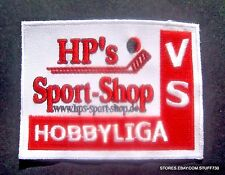HP'S SPORT SHOP HOBBYLIGA SEW ON PATCH BADGE HOCKEY TENNIS WILD WINGS 3 7/8 x 3