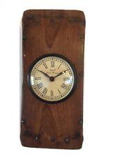 Kaminuhr im Holzbalken Wanduhr Uhr Dekorationsuhr Holzuhr 52684