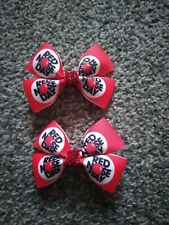 Girls red nose day hair clips x 2 paired