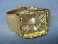 Gold GUESS Water Resistant Gemmed Watch w/ New Battery