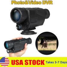 Day & Night Vision 5X40 Hd Optical Monocular Hunting Camping Hiking Telescope