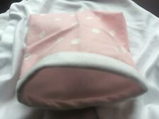 Cute pink/white spots cosy guinea pig/rabbit/hamster/mouse small pet cuddle sack