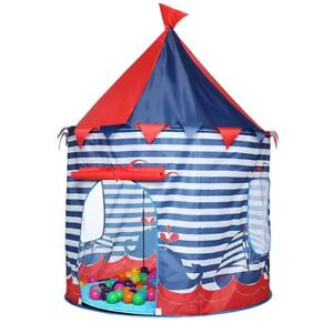 Little Prince Play Tent Portable Foldable Boy Castle Play House Kids Tents