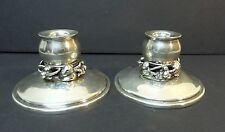 Mid-Century CODAN MEXICO Solid Sterling Silver Candlesticks, 260 grams