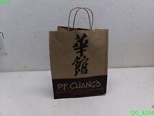 "Case Of 250: Pf Changs 12"" X 10"" X 6.75"" Recycled Paper Bags, To Go Bags - New"