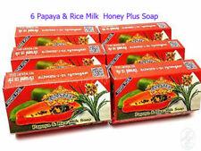 6x Herbal Lightening Asantee Papaya & Rice Milk Acne Soap Collagen Honey Plus+++
