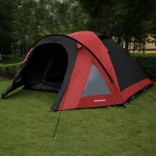 North Gear Camping 4 Man Blackout Waterproof Tent, Red