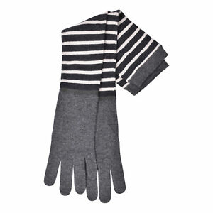 BRUNELLO CUCINELLI WOMEN'S 100% CASHMERE GLOVES w/ MONILI BEAD ACCENT STRIP