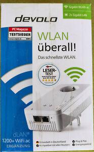 Devolo dLAN 1200+ WiFi ac Powerline 1200 Mbit/s WLAN ac, 2,4 und 5 GHz Adapter