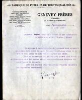 """SAINT-ETIENNE-de-SAINT-GEOIRS (38) USINE de POTERIES """"GENEVEY Freres"""" en 1929"""