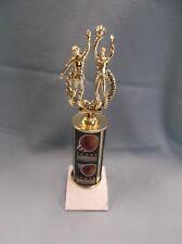 action male Basketball trophy theme column white base