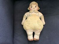 Vintage FLAPPER GIRL Stuffed Rag Cloth Doll Victorian Hand Embroidered Stitched
