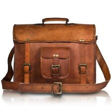 Men's Vintage Leather Messenger Bags Laptop Satchel Bag Handmade Briefcase Bags