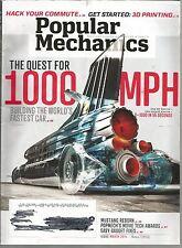 Popular Mechanics March 2014 Quest for 1000 MPH Car/Easy Gadget Fixes