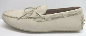 Frye Size 11.5 Ivory Soft Leather Loafers Drivers Soles New Mens Shoes