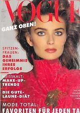 VOGUE GERMANY 1988 PAULINA PORIZKOVA ELLE MACPHERSON ROBERTA CHIRKO JOSIE BORAIN
