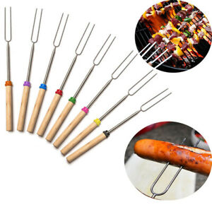 1/4PCS Hot Dog Camping Outdoor New Telescoping Roasting Sticks BBQ Forks Skewers