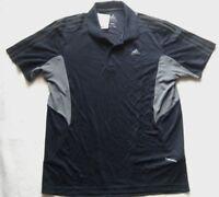 ADIDAS Herren Sport-Poloshirt Navy-Grau Gr. M