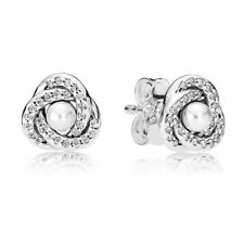 LUMINOUS KNOT Stud Pandora Earrings s925 Sterling Silver NEW 290740WCP