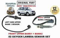 FOR TOYOTA RAV 4 2000-2003 2x FRONT PRE CAT 02 OXYGEN LAMBDA SENSOR DIRECT FIT