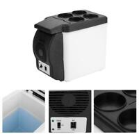 US 12V 6L Car Portable Mini Fridge Cooler Warmer Refrigerator Heater Box Travel