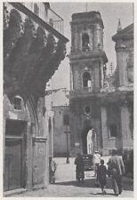 D4198 Brindisi - Piazza Balsamo - Stampa d'epoca - 1942 vintage print