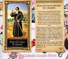 St. Charbel with Prayer for Grace through Saint Charbel - Paperstock Holy Card