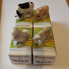 Wade Whimsie - Land Farmyard. 1985. cow, pig, duck and goat with original boxes.