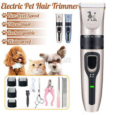 Rechargeable Pet Dog Grooming Clipper Kit Thick Fur Hair Trimmer Electric