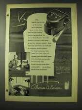 1948 Edison Electronic Voicewriter Ad - Time