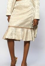 New Women's Brocade Lined Skirt in Taupe~Custom Fabric~ Size 2