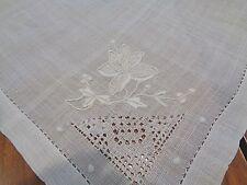 Matching set of 8 Antique Handkerchief 100% linen napkins