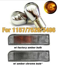 1157 2057 7528 3496 BAY15D Front Signal Light Amber Stealth Chrome Bulb B1 AU
