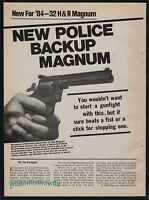 1984 SMITH & WESSON Model 504 .32 H&R Magnum Revolver 4-page Article